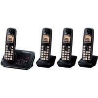 Click to view product details and reviews for Panasonic Kx Tg6624eb Cordless Phone With Answering Machine Quad Handsets Black.