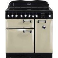 RANGEMASTER Elan 90 Electric Induction Range Cooker - Cream & Chrome, Cream