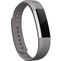 FITBIT Alta Leather Accessory Band - Graphite, Large, Graphite