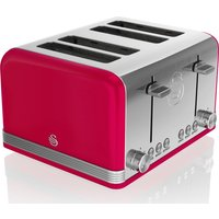 Buy SWAN Retro ST19020RN 4-Slice Toaster - Red, Red - Currys