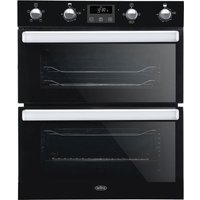 BELLING BI702FPCT Electric Built-under Double Smart Oven - Black, Black