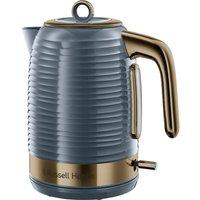 Inspire Luxe Jug Kettle - Grey & Brass, Grey