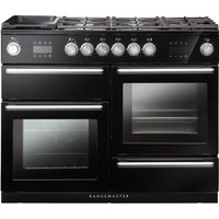RANGEMASTER Nexus Steam 110 cm Dual Fuel Range Cooker - Black, Black