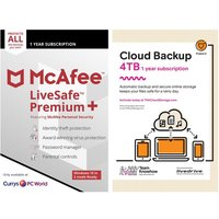 MCAFEE LiveSafe Premium & Knowhow 4 TB Cloud Backup Bundle - 1 year