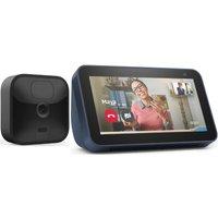 AMAZON Blink Outdoor Security Camera System & Deep Sea Blue Echo Show 5 (2nd Gen) Bundle, Blue