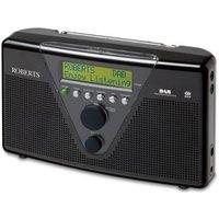 ROBERTS DuoLogic Portable DAB Radio - Black, Black