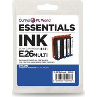 ESSENTIALS Epson Cyan, Magenta, Yellow & Black Ink Cartridges - Multipack, Cyan