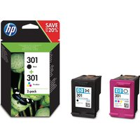 HP 301 Black & Tri-colour Ink Cartridges - Twin Pack, Black