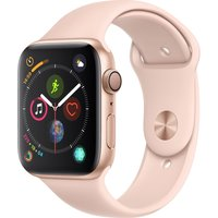 APPLE Watch Series 4 - Gold & Pink Sports Band, 44 mm, Gold