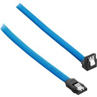 CABLEMOD ModMesh 30 cm Right Angle SATA 3 Cable - Light Blue, Blue
