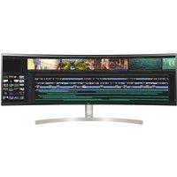 49WL95C-W Quad HD 49? Curved IPS Monitor - Black and White, Black