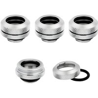 CORSAIR Hydro X Series XF 14 mm Compression Fitting   G1 4   Chrome  Pack of 4