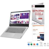 "Lenovo IdeaPad S340 14"" Laptop, Microsoft Office 365 Home & McAfee LiveSafe Premium 2020 Bundle"