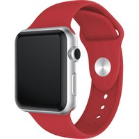 XQISIT Apple Watch 38 / 40 mm Silicone Strap - Red, Small, Red.