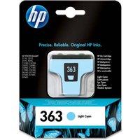 HP 363 Light Cyan Ink Cartridge, Cyan