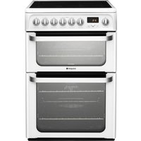 HOTPOINT Ultima HUE62PS Electric Ceramic Cooker - White, White