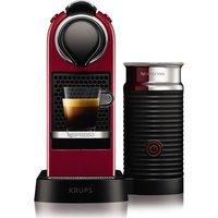 NESPRESSO by Krups Citiz & Milk XN760540 Coffee Machine - Cherry Red, Red