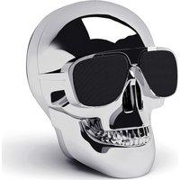 JARRE Aero Skull Nano Wireless Portable Speaker - Silver, Silver
