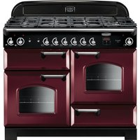 Rangemaster Classic 110 Gas Range Cooker - Cranberry and Chrome, Cranberry
