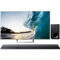 55 SONY BRAVIA KD55XE8577 Smart 4K Ultra HD TV & Wireless Sound Bar Bundle