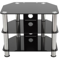 AVF SDC600CM TV Stand - Black & Chrome, Black