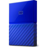 Wd My Passport Portable Hard Drive - 2 Tb, Blue, Blue