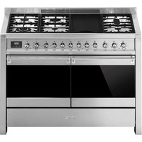 SMEG Opera A4-81 120 cm Dual Fuel Range Cooker - Stainless Steel, Stainless Steel