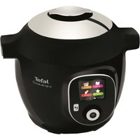 TEFAL CY851840 Cook4Me Pressure Cooker - Black, Black