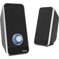 HAMA Sonic LS-206 2.0 PC Speakers - Black, Black