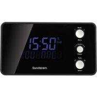 SANDSTROM SDABXCR13 DAB Clock Radio - Black, Black