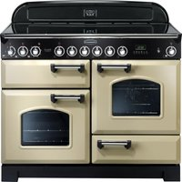 RANGEMASTER Classic Deluxe 110 Electric Ceramic Range Cooker - Cream and Chrome, Cream