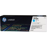 HP 312A Original Cyan Toner Cartridge, Cyan