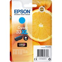 EPSON No. 33 Oranges XL Cyan Ink Cartridge, Cyan
