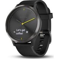 Garmin Vivomove Hr Sport Hybrid Smartwatch - Black, Large, Black