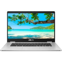 "Asus C523 Touch 15.6"" Intel Pentium Chromebook - 64 GB eMMC, Silver, Silver"