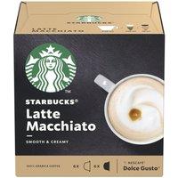 STARBUCKS Dolce Gusto Latte Macchiato Coffee Pods - Pack of 12
