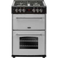 BELLING Farmhouse 60DF Dual Fuel Cooker - Silver and Black, Silver
