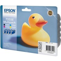 EPSON Ducks T0556 Cyan, Magenta, Yellow and Black Ink Cartridges - Multipack, Cyan