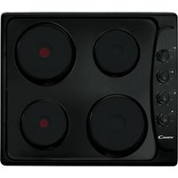 CANDY PLE64N Electric Solid Plate Hob - Black, Black