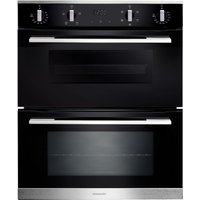 RANGEMASTER RMB7245BL/SS Electric Double Oven - Black & Stainless Steel, Stainless Steel