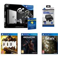 Sony Sony Playstation 4 Games & Accessory Bundle, Silver