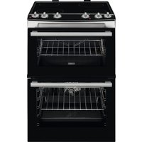 ZANUSSI ZCV66060XE 60 cm Electric Ceramic Cooker - Stainless Steel, Stainless Steel