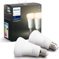 Hue White Bluetooth LED Bulb   E27  Twin Pack  White