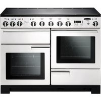 RANGEMASTER Professional Deluxe 110 Induction Range Cooker - White & Chrome, White