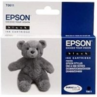 EPSON Teddybear T0611 Black Ink Cartridge, Black