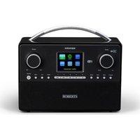 ROBERTS STREAM93I DAB Clock Radio - Black, Black