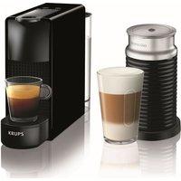 NESPRESSO by Krups Essenza Mini XN111840 Coffee Machine with Aeroccino - Black, Black