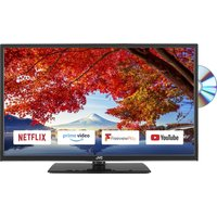 """32"""" JVC LT-32C695 Smart LED TV with Built-in DVD Player, Gold"""