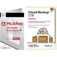 MCAFEE LiveSafe Premium 2020 & Knowhow 2 TB Cloud Backup Bundle