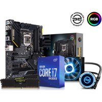 PC SPECIALIST Intelu0026regCore i7 Processor, TUF GAMING Motherboard, 16 GB RAM & FrostFlow Liquid Cooler Components Bundle